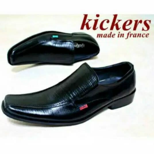 Sepatu Pria Pantofel Pria Kickers Untuk Kerja Formal Resmi Pesta Sekolah Bahan Kulit Sapi Asli 100%