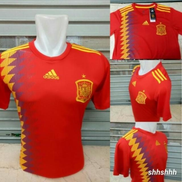 JERSEY BOLA SPANYOL HOME OFFICIAL WORLD CUP PIALA DUNIA 2018