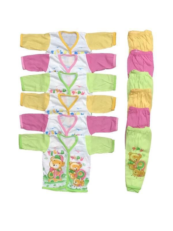 BAYIE - 6 SET Setelan Baju Bayi Lengan Panjang+Celana Panjang Motif lucu  new born MELODY umur 0-3 bulan/baju rumah/anak laki-laki/anak perempuan