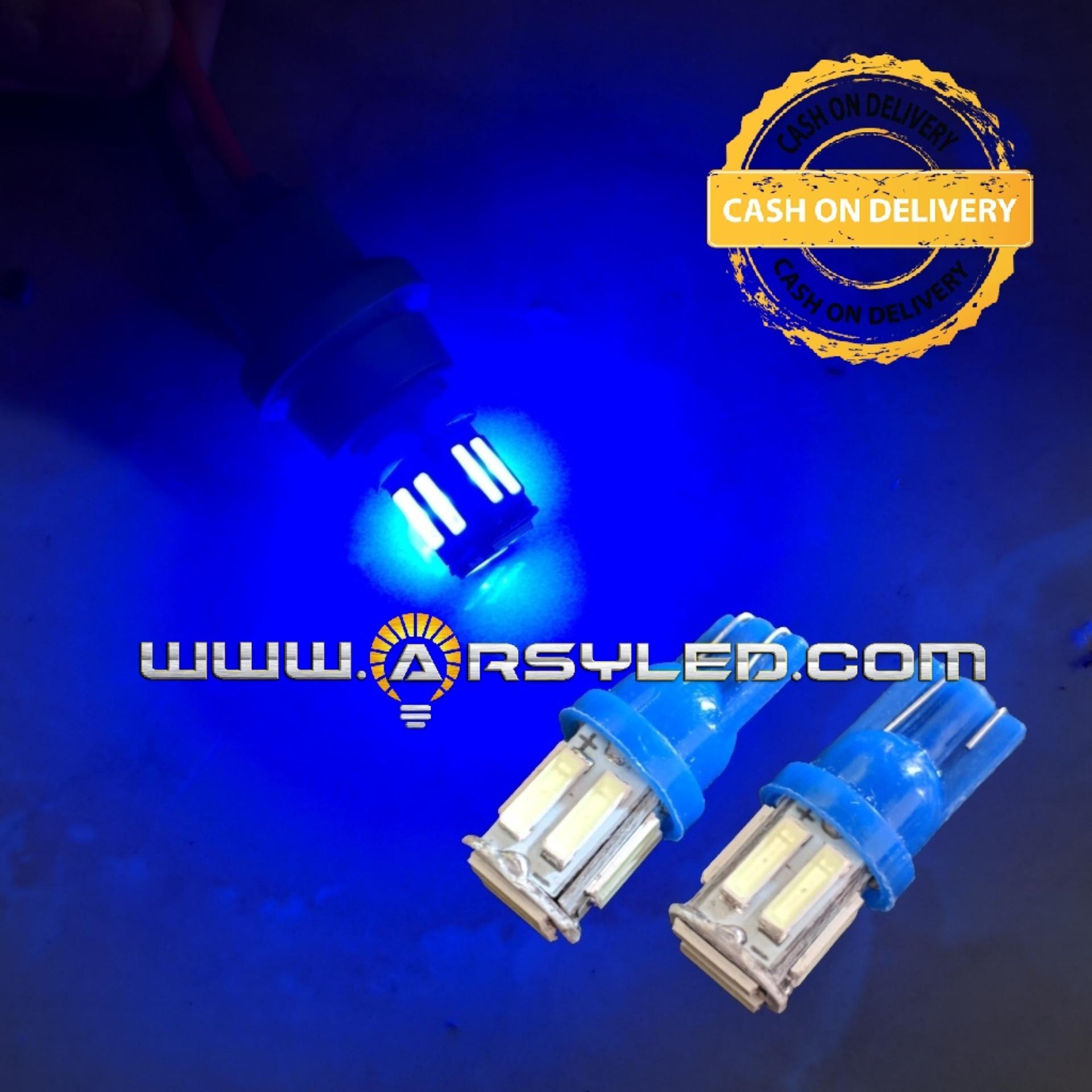 2 Biji Lampu Led Motor Nmax Beat Vario Mio Supra Scoopy T10 7014 10 TITIK Senja Sein ARSYSTORE - BIRU