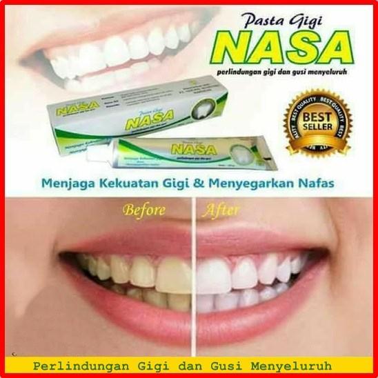RaHe Cibubur Nasa Pasta Gigi Herbal Menjaga kekuatan gigi dan menghilangkan noda membandel akibat rokok, minuman dan makanan