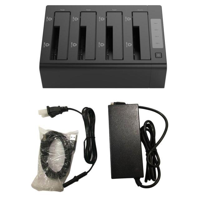 Lalove 6648US3-C-V1-BK Empat Bay USB 3.0 5 Gbps Sata Keras Mendorong Dock Station Dukungan Kecepatan Tinggi 32 TB dengan LED ringan Hitam