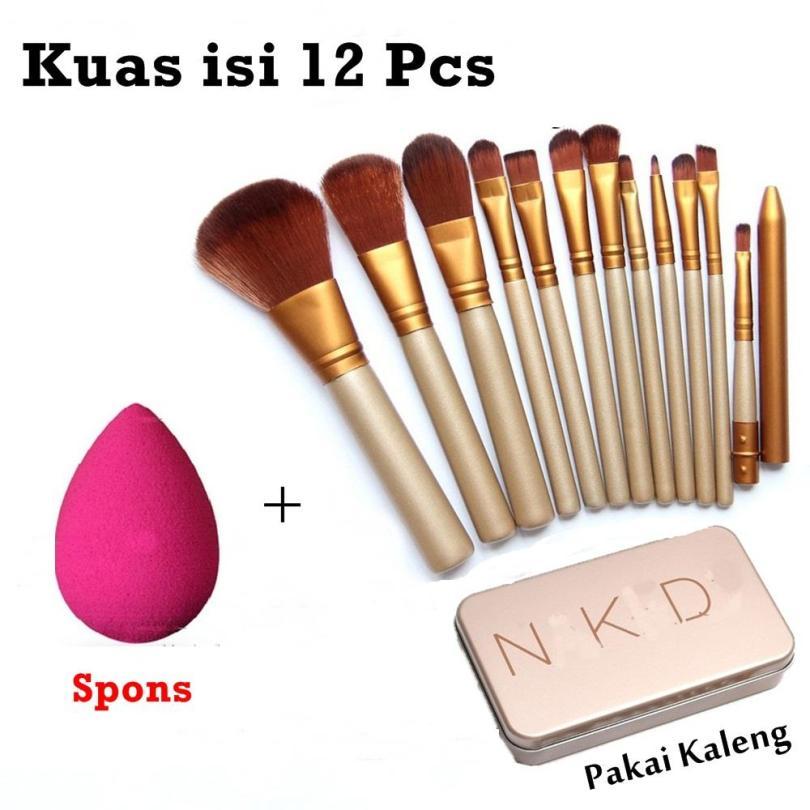 JBS Profesional Kuas 12 kemasan Kaleng N5 Brush Set - 12 Pcs - Spon Beauty Blender