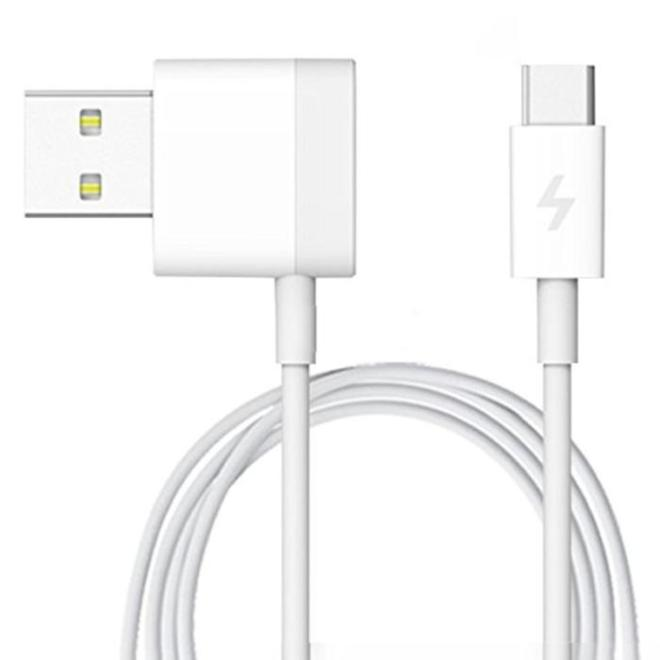 Xiaomi L Shape Micro USB Cable with 1 Extra Port for Smartphone - Whit