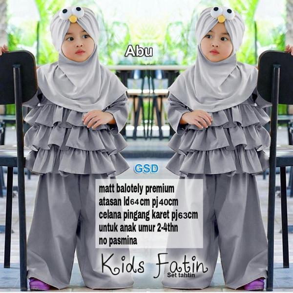 Wow keren - busana muslim anak / gamis anak perempuan / gamis maxi anak / dress anak anak/  fathin kids
