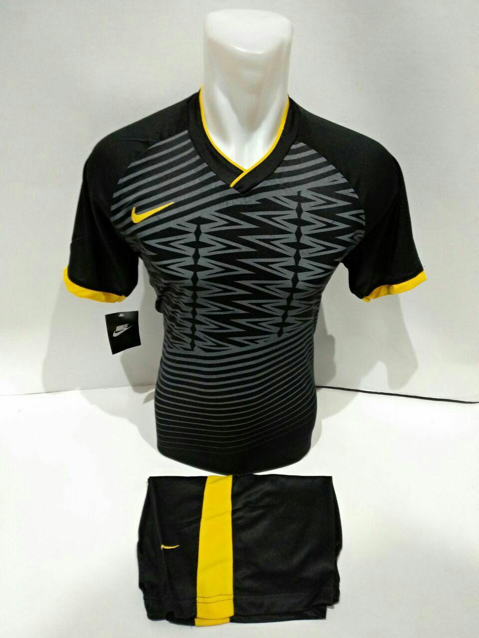 Baju Kaos Olahraga Jersey Setelan Futsal Volly NK 03 Hitam Kuning