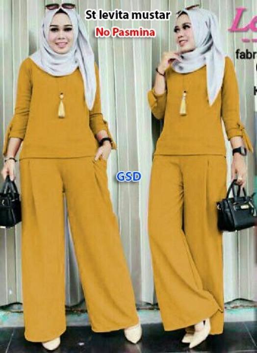 GSD-Setelan Baju Muslim Polos Wanita-Set Celana F 101 / CELANA KULOT/ BAJU MUSLIM