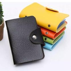 Eltee PU Leather Card Holder - Tempat Kartu Nama / Kartu Kredit ATM Dompet Kartu 24 Slot