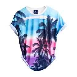 Baju Distro Pria Kaos Printing 3D Import Bangkok Thailand Spoon Blue Beach Tshirt