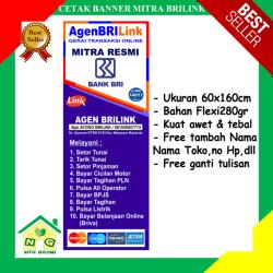 banner brilink / banner mitra brilink / spanduk bri / banner agen brilink / agen mitra brilink / bank BRI / mitra agen resmi brilink / gerai transaksi online