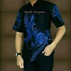 Baju Batik Pria Hem Batik Lengan Pendek Model Batik Lung Naga