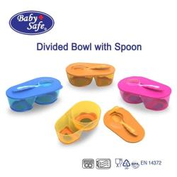 Baby Safe Divided Bowl with Spoon (Tempat Makan Bayi + Sendok)