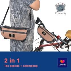 2IN1 TAS SEPEDA / TAS SELEMPANG COSMONKY BMXX / tas kulit / Cosmonky Bags/Crossbody bags / tas selempang casual / tas organizer / tas murah/CORAZONE BAGS