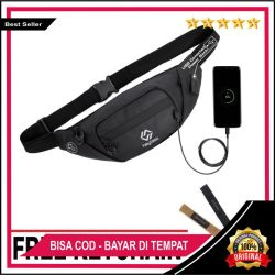 (FREE KEYCHAIN ) - TAS SELEMPANG PRIA WAIST BAG HEYLOOK WATERPROOF ANTI AIR ANTI SOBEK ANTI MALING