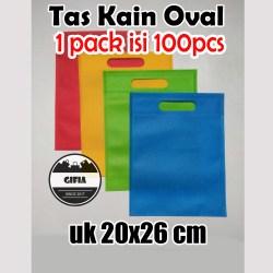 1 Pack isi 100pcs (20x26) Tas Spunbond / Tas Kain / Goodie Bag / Tas Souvenir / Kantong Souvenir