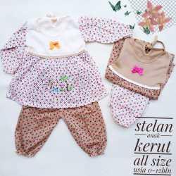 Baju Tidur Bayi / Baby Doll Panjang Umur 3-12 Bulan Eceran Harga Grosir Murah