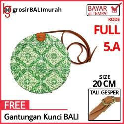 20cm Tas Rotan LUKIS DECO FULL Kode DECO FULL 5A By GBM Tas Rotan Bali