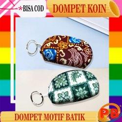 Dompet Koin Mini Tipe Kerang Motif Batik