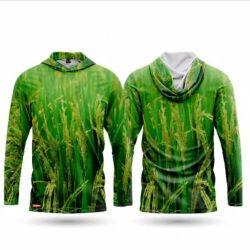 Baju Camo Motif Padi V1 Hoodie Lengan Panjang