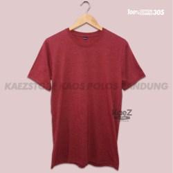 Baju Kaos Polos Lengan Pendek Oblong Bandung Maroon Misty Pria Wanita Merah Marun Misty