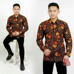 Baju Batik Pria Kemeja Batik Pekalongan Murah Lengan Panjang Adem Motif Terbaru New Modern Seragam Pesta Resepsi Kantor Dinas Keren dan Trendy Batik Mamas ALX K04