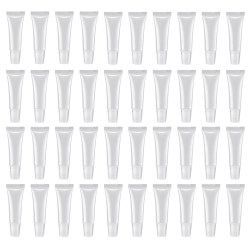 100 Pcs 10Ml Distribution Bottle Lip Gloss Tubes Empty Clear Lotion Containers Tubes for Cosmetics DIY Oblique Mouth