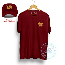 Baju Kaos Pria RRQ ( rex regum qeon) gratis Topi | T-Shirt distro Bahan Cotton Combed 30s Kualitas Premium | atasan Distro Pria Unik Gratis Topi