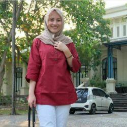 Baju Muslim Atasan Blouse COD MALABISStore LD 106 Atasan wanita Terbaru