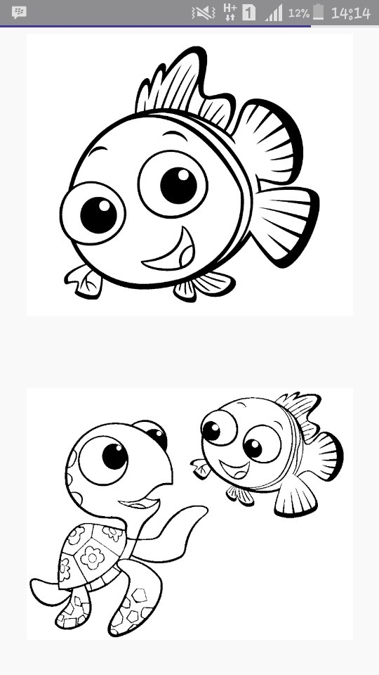 Gambar Mewarnai Ikan Nemo : gambar, mewarnai, Contoh, Gambar, Mewarnai, KataUcap