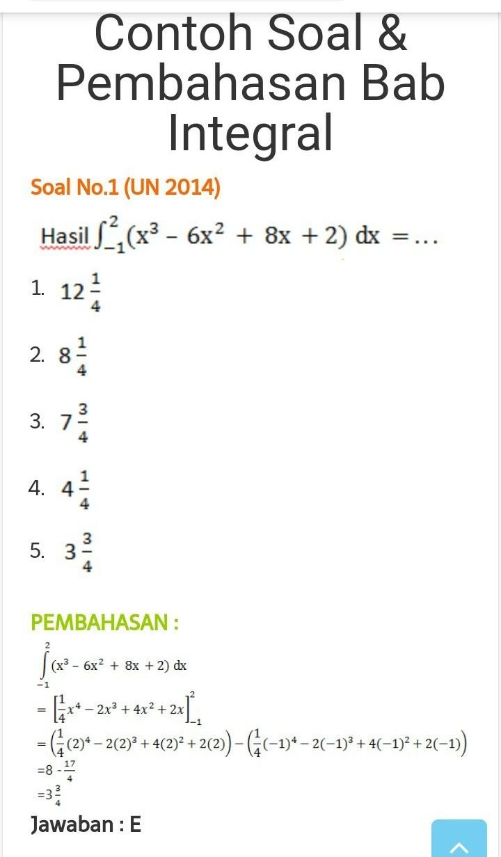 Berikut ini akan kita bahas contoh soal kalkulus, antara lain : Contoh Soal Dan Jawaban Integral Tak Tentu Kumpulan Contoh Surat Dan Soal Terlengkap