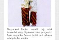 Pakaian Adat Banten Dan Keunikannya