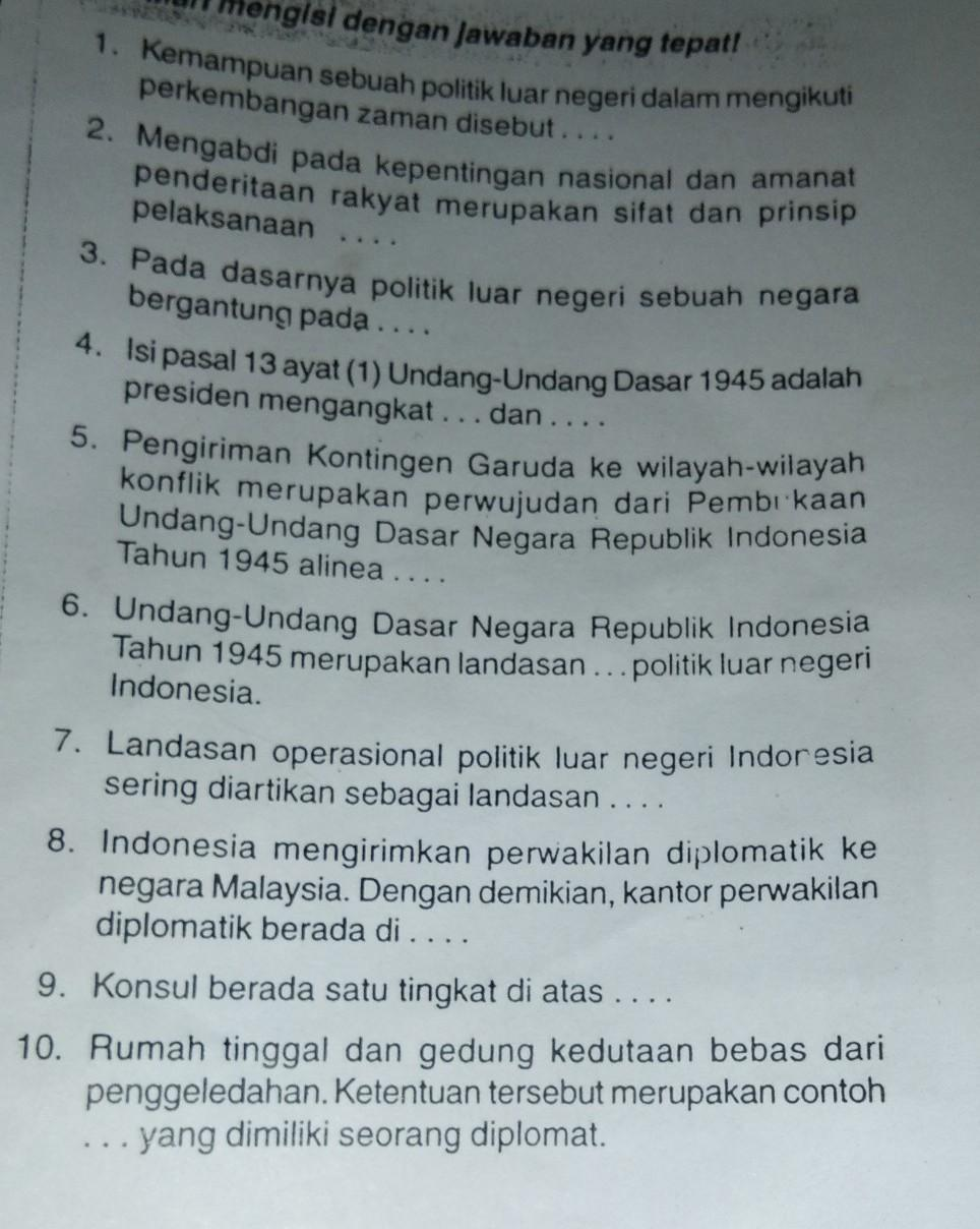 Landasan Politik Luar Negeri Indonesia : landasan, politik, negeri, indonesia, Sifat, Politik, Negeri, Indonesia