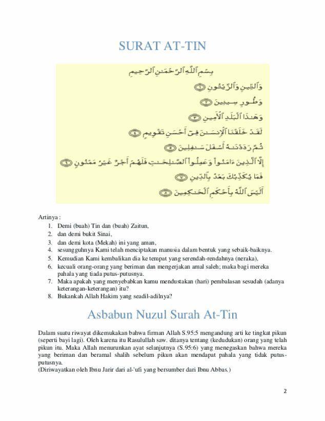 Surat At Tin Ayat 4 : surat, Surah, Terjemahan