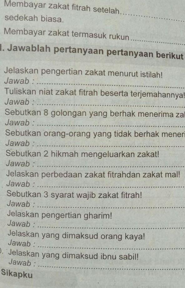 Tuliskan Syarat Sah Puasa : tuliskan, syarat, puasa, Sebutkan, Syarat, Wajib, Zakat, Fitrah