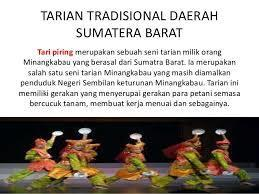 Nama Tari Daerah Sumatera Barat Brainly Co Id