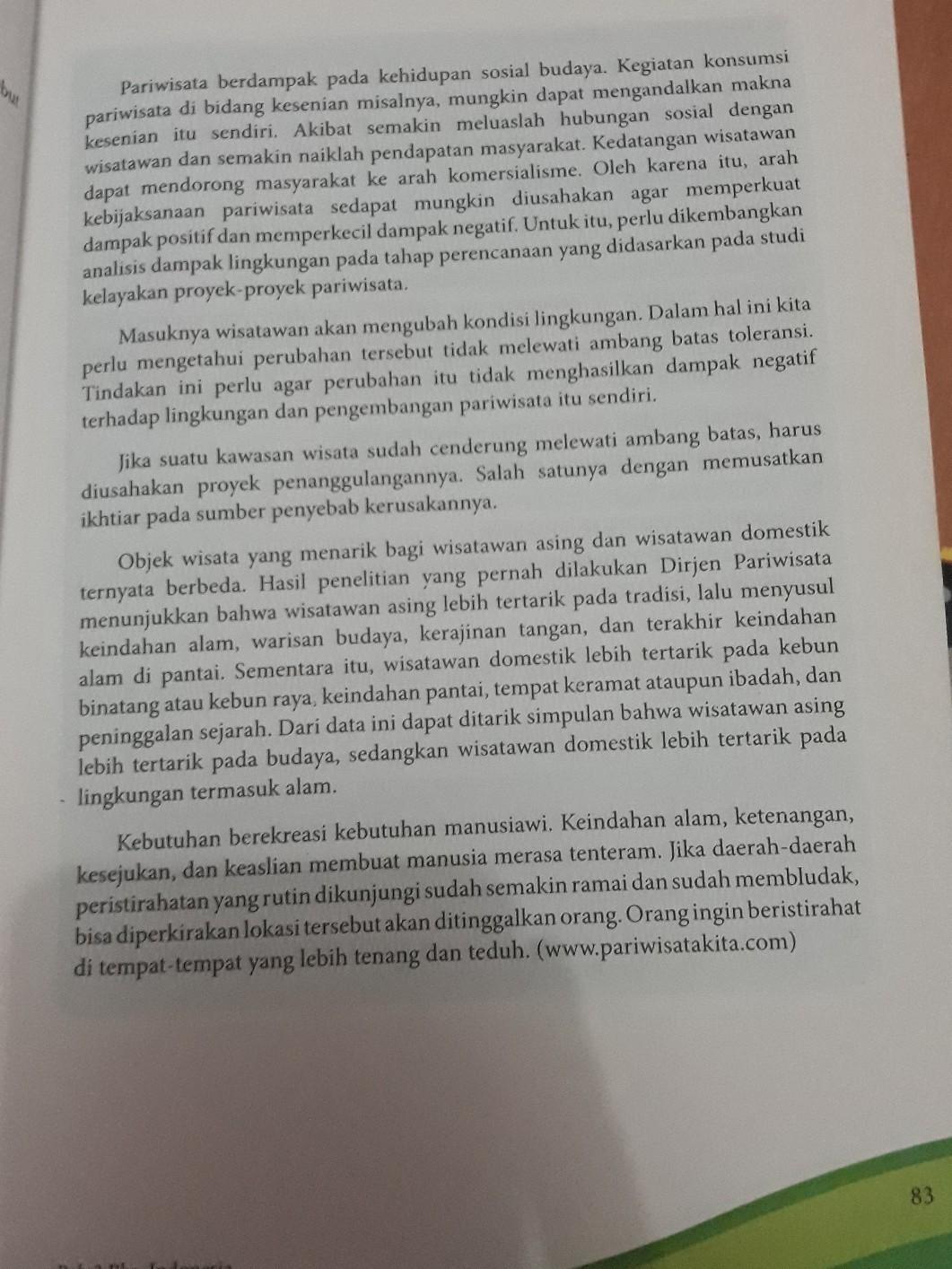 Bahasa Indonesia Kelas 8 Kegiatan 3 6tolong Jawab Butuh