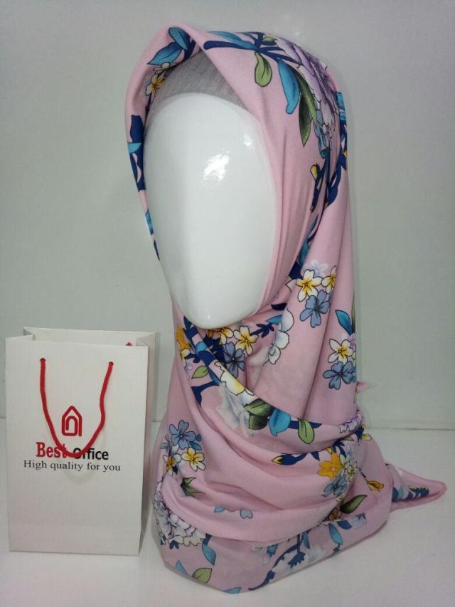 Jilbab Hijab Kerudung Segiempat Segi Empat Motif dan Polos Wolfis AR02998