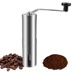 Homdox  Stainless Steel Manual Coffee Grinder with Adjustable Ceramic Conical Burr for Consistently Brewing Espresso French Press - intl