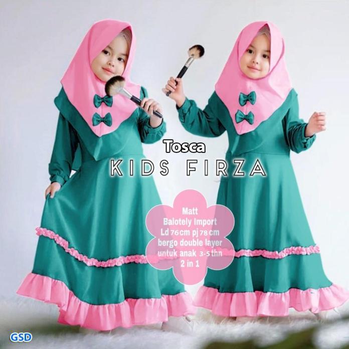 GSD - Baju Muslim Anak / Baju Anak Perempuan / Gamis Anak-anak - Maxi Piyu Kids