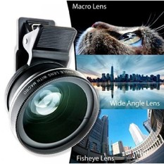 2 In 1 Lensa Kamera Smartphone Set (Wide Angle + Macro-Bagus Clip On Cell Phone Lensa Kit untuk IPhone. Samsung. Tablet & Lebih-Zoom Kamera Kit dengan Profesional Lensa-Intl