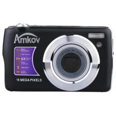 AMKOV HD Digital Kamera Video Camcorder 15MP 2.7?  X9DTFTLCDAnti-shakeScreen 4X Optical Zoom (Hitam)-Intl