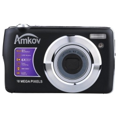 AMKOV HD Digital Camera Video Camcorder 15MP 2.7?x9DTFTLCDAnti-shakeScreen 4X Optical Zoom (Black) - intl