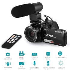 Andoer HDV-Z82 1080 P Full HD 24MP Digital Video Kamera Camcorder dengan Eksternal MIC Remote Control 3