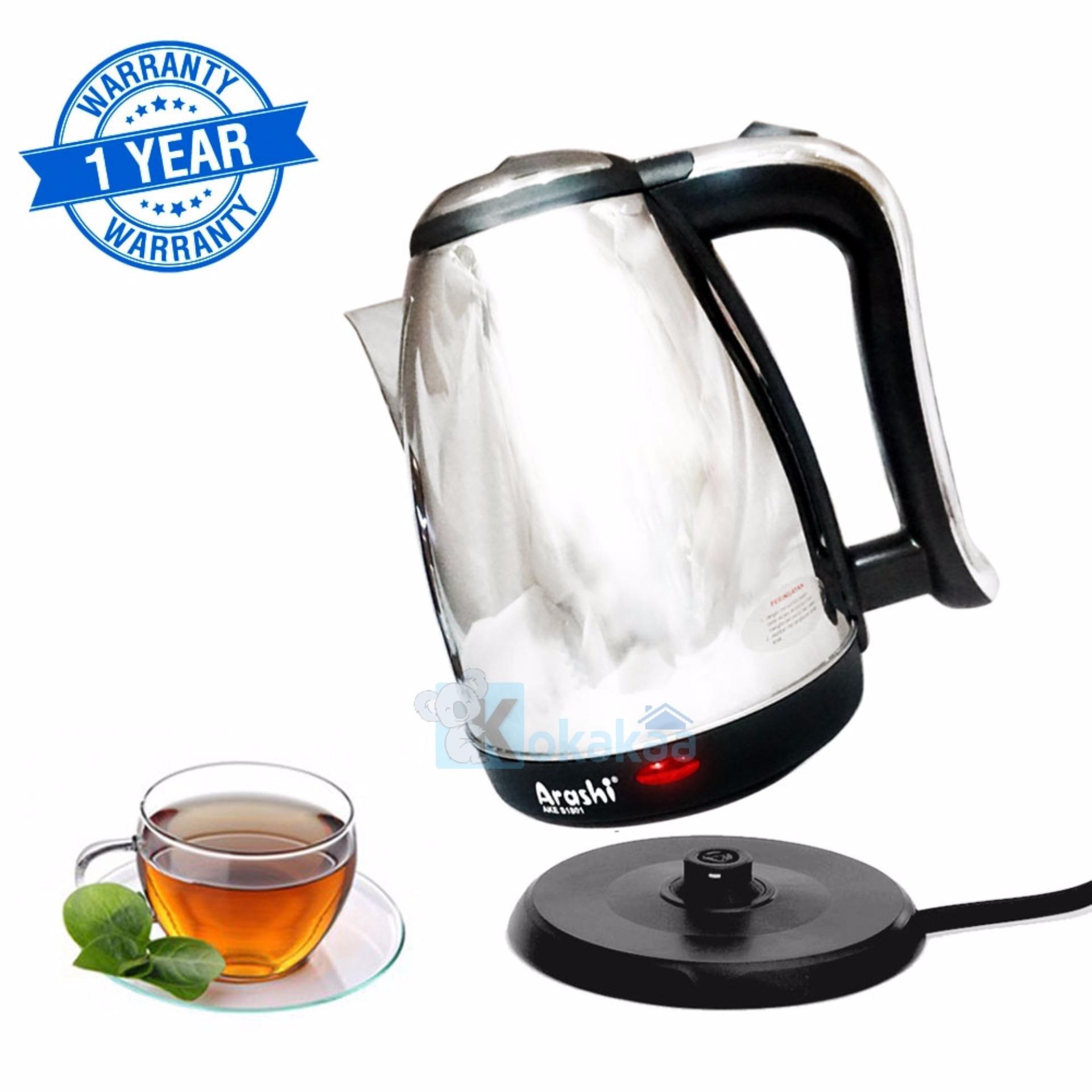 Arashi Espresso Kettle Listrik / Teko Listrik Ceret Pemanas Air Electric Kettle 1,8L AKE S1801