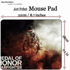 Art Print Game Mouse Pad Mat (22*18cm) for WG303 Medal of Honor Warfighter - intl