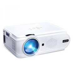 ARTSEA 1600Lumen LED Mini Projector, Multimedia Home Theater Video 1080P HD Portable Projector Support AV VGA USB SD HDMI for PC Laptop PS4 XBOX Android phone iPhone TV Box with HDMI Cable, BL90 White - intl