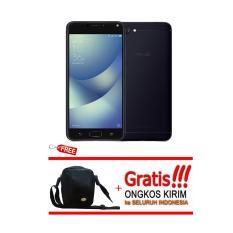 Asus Zenfone 4 Max ZC554KL Black Free Bumper+Tas Hanphone Garansi Resmi Asus Indonesia