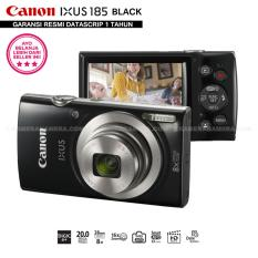 Canon IXUS 185 BLACK - Pocket Camera 20 MP 28mm Wide 8x Optical Zoom (Resmi Datascrip)