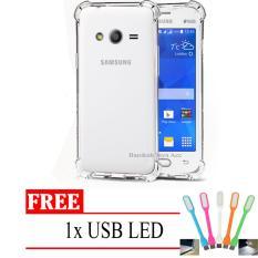 Case Anti Shock / Anti Crack Elegant Softcase for Samsung Galaxy V / G313 / Ace 4 -  Clear + Free USB LED