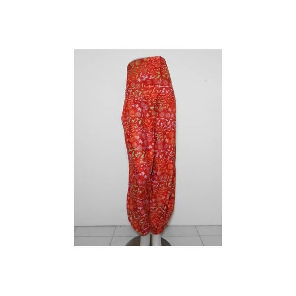 Celana Batik Aladyn Jumbo / Kulot Muslim Murah Big Size Merah Cap
